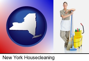 a woman cleaning house in New York, NY