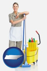 tennessee a woman cleaning house