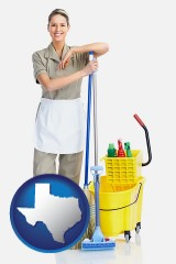 texas a woman cleaning house